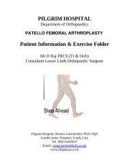 Patello femoral joint Arthroplasty - Boston Knee and Hip Service