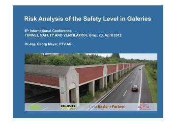 Risk Analysis of the Safety Level in Galeries