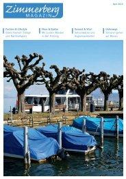 Ausgabe April 2013 - Zimmerberg-Magazin