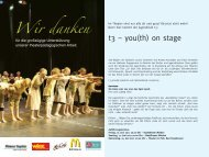t3 - you(th) on stage - Stadttheater Minden