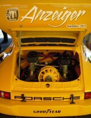 September 2012 Anzeiger - Oregon Region Porsche Club of America
