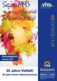 Programmheft als Download - VHS Sächsische Schweiz ...