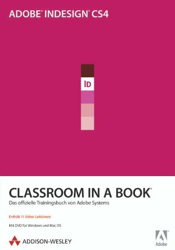 Adobe InDesign CS4 - Classroom in a Book
