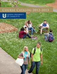Course Catalog 2012-2013 - Queens University of Charlotte
