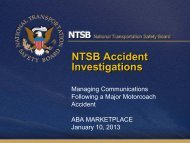 NTSB Accident Investigations - American Bus Association