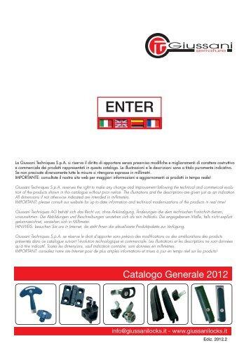 Catalogo completo 2012 - pdf 50 MB - Giussani serrature