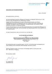 Presseeinladung und Antwortfax - Stiftung Mercator