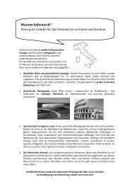 Neun gute Gründe für das Italienische in Schule und Studium.