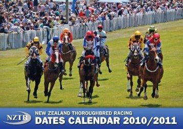 dates calendar 2010/2011 - New Zealand Thoroughbred Racing