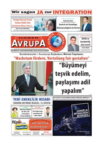 EUROPA JOURNAL - HABER AVRUPA FEBRUAR 2014