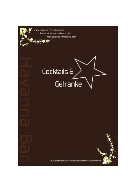 PDF-Dokument - Havanna Bar Remscheid