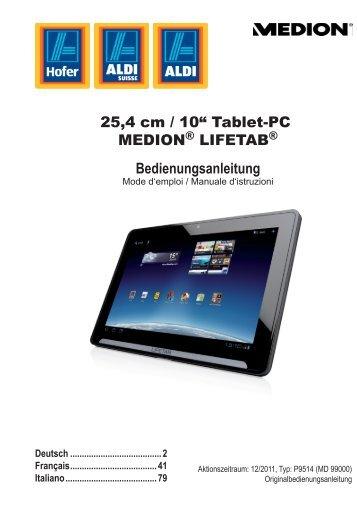 Utilizzo del Tablet PC - Medion