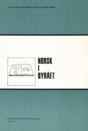 Norsk i byrået, 1978 - SSB