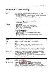 Seminar Kostenrechnung - Spitex Verband Kt. St. Gallen