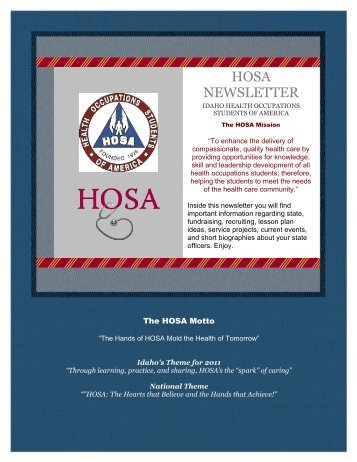 HOSA NEWSLETTER