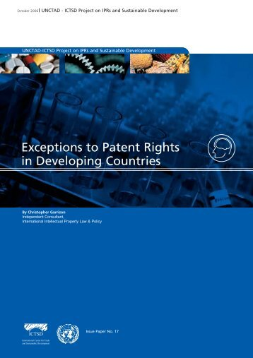 Exceptions to Patent Rights in Developing Countries - IPRsonline.org
