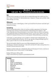 Modul 1 Idrett for funksjonshemmede - Norges idrettsforbund