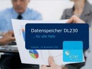 Vorstellung des Datenspeichers DL230 - Gas Service Freiberg GmbH
