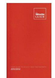 The Miele Guide 2011/2012 - Mr & Mrs Bund