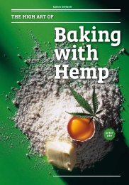 The high ArT of - Baking with Hemp