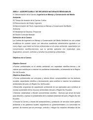 AGROPECUARIA Y DE RECURSOS NATURALES RENOVABLES ...