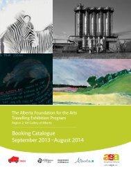 Booking Catalogue September 2013 – August 2014 - Art Gallery of ...