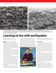 Learning to live with earthquakes - Woods Hole Oceanographic ...