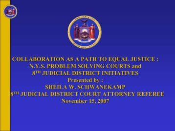 N.Y.S. Problem Solving Courts and 8th Judicial District Initiatives