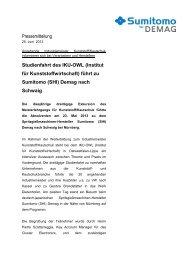 mehr (PDF) - Sumitomo (SHI) Demag