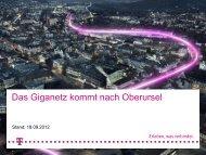 Präsentation der Telekom - Stadt Oberursel