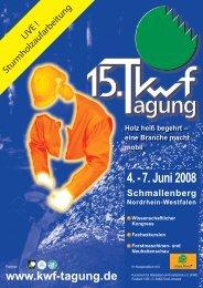 4. - 7. Juni 2008 - KWF-Tagung