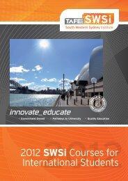 International Course List - South Western Sydney Institute - TAFE NSW