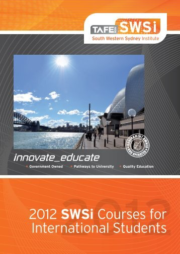 International Course List - South Western Sydney Institute - TAFE NSW