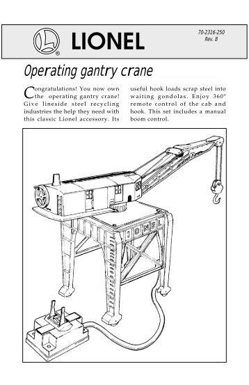 operating gantry crane