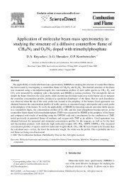 Application of molecular beam mass spectrometry in studying the ...