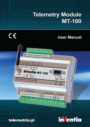 Telemetry Module MT-100 User Manual - BlueNote Communications