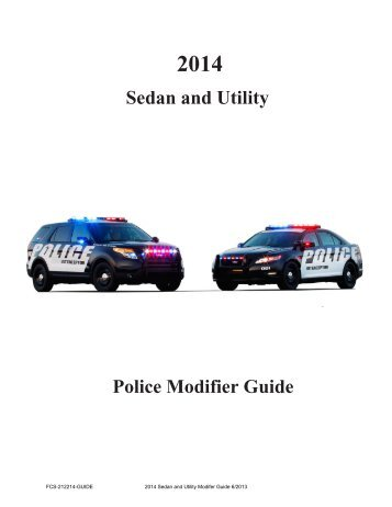 2014 Police Interceptor Modifier Guide - MotorCraftService.com