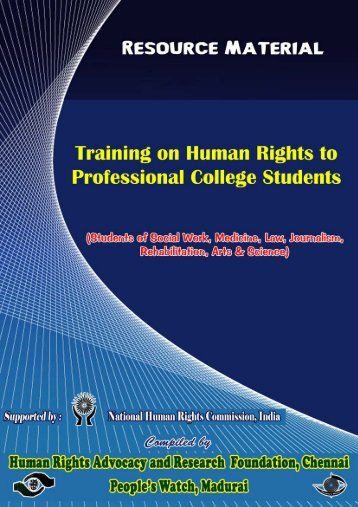 Training on Human Rights to Professional College ... - People's watch