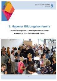 Bildungskonferenz 2012 - Regionale Bildungsnetzwerke
