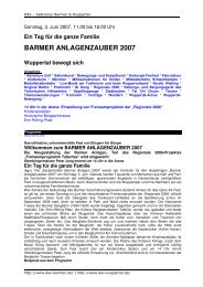 BARMER ANLAGENZAUBER 2007 - DAV Sektion Wuppertal