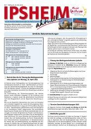 Ausgabe vom 22.05.2013 - Markt Ipsheim