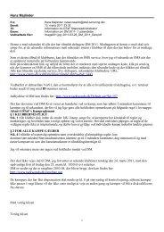 Hans Majlinder Denne e-mail udsendes til alle der har tilmeldt ...