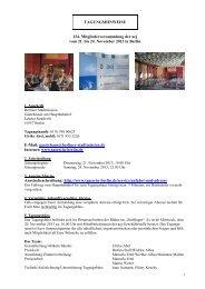 TAGUNGSHINWEISE 124. Mitgliederversammlung der aej vom 21 ...
