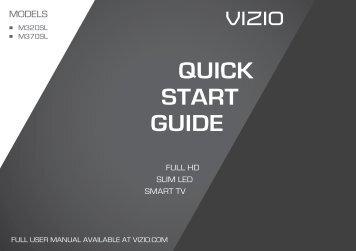 M320SL Quick Start Guide - Vizio