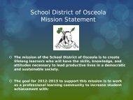 District Goals - Osceola School District