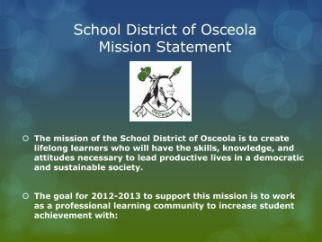 District Goals - Osceola School District