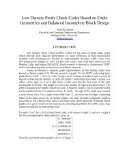 Low density parity check codes based on finitegeometries and ...