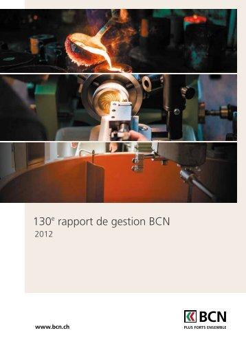 Rapport de gestion 2012 télécharger - BCN
