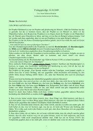 Bescheidenheit - Islamisches Kulturzentrum Wolfsburg