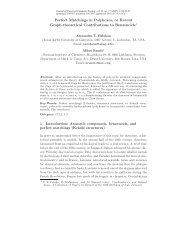 Perfect Matchings in Polyhexes, or Recent Graph-theoretical ...